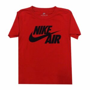 NSB110KR NIKE AIR SWOOSH SPLIT JUNIOR T SHIRT BLACK RED 76F210 U10