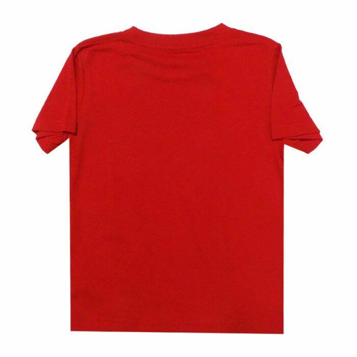 NSB110KR NIKE AIR SWOOSH SPLIT JUNIOR T SHIRT BLACK RED 76F210 U10 v2
