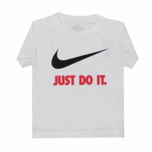 NSB111W NIKE JUST DO IT SWOOSH T SHIRT JUNIOR WHITE RED 769461 186