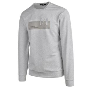 KOS1031G NIKOS FLEECE CREW NECK GREY NKW21 422A V2