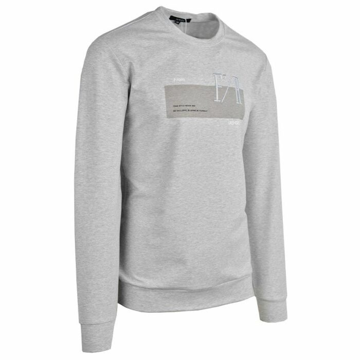 KOS1031G NIKOS FLEECE CREW NECK GREY NKW21 422A V3