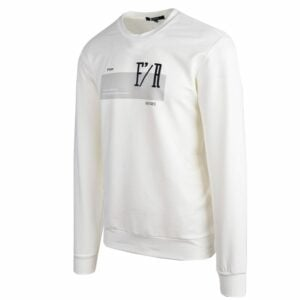KOS1031W Nikos Fleece Crew Neck White NKW21 422A V2