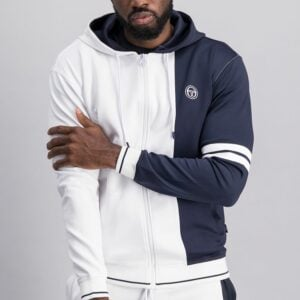 SER41W Panelled Zip Through Hoodie 1