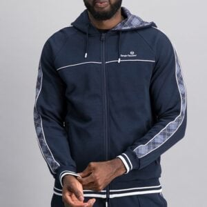 SER47NS Panelled Zip Through Hoodie 1