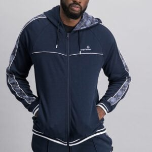 SER47NS Panelled Zip Through Hoodie 2
