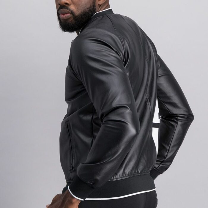 SER52AN Leather Bomber Jacket 10